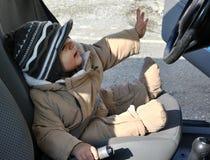 Entraînement de bébé garçon Images libres de droits