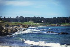 Entraînement de Pebble Beach Photo stock