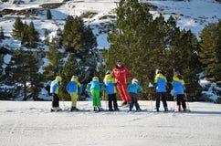 Entraînement de ski Photo libre de droits