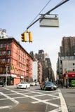 Entraînement de voitures à Manhattan Image stock