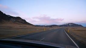 Entraînement du nord de route de voiture banque de vidéos