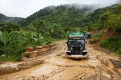 Entraînement extrême par Chin State, Myanmar Photographie stock