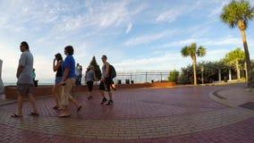Entraînement par la vidéo de Key West la Floride 4k de point la plus la plus au sud banque de vidéos