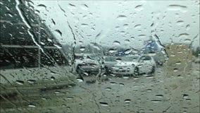 Entraînement sur pleuvoir le jour banque de vidéos