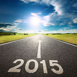 Entraînement sur une route vide à nouveau 2015 Images libres de droits