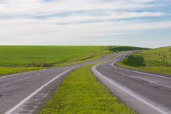 Entraînement sur une route vide Images libres de droits