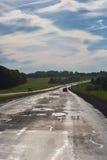 Entraînement sur une route vide Images stock