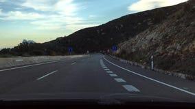 Entraînement vers le Gibraltar sur la route andalouse clips vidéos