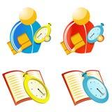 Entraîneur avec le chronomètre Images libres de droits