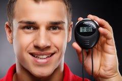 Entraîneur avec le chronomètre Photo libre de droits