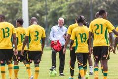 Entraîneur d'équipe de Bafana Bafana Image libre de droits