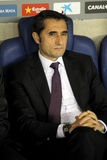 Entraîneur d'Ernesto Valverde de l'Athletic Bilbao Photos libres de droits