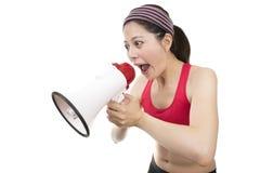 Entraîneur de sport avec le mégaphone Image stock
