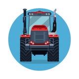 entraîneur Labourage par le tracteur en automne Illustration Libre de Droits