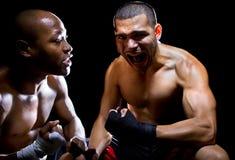 Entraîneur Motivating Fighter Image libre de droits