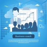 Entraîneur Template Web Banner d'affaires avec l'espace de copie Photo stock