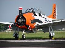 Entraîneur Trojan admirablement reconstitué du warbird T28 photographie stock