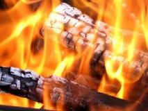Entra o fogo Foto de Stock