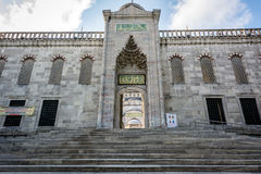 Entrace του μουσουλμανικού τεμένους Ahmet σουλτάνων στη Ιστανμπούλ, Τουρκία στοκ εικόνες