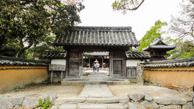 Entrace del templo de Kaidan-en foto de archivo