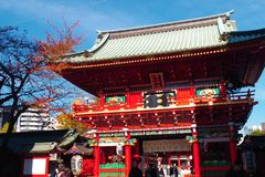 Entrace do santuário de Kanda no Tóquio Japão Fotos de Stock Royalty Free