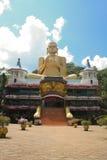 Entrace para excavar el complejo del templo en Dambulla, Sri Lanka fotos de archivo