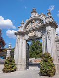 Entrace to the Retiro Park in Madrid stock images