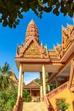 Entrace of Wat Bo Temple, Siem Reap, Cambodia, Asia stock photos