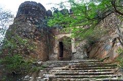 Entracepoort van een oud fort Royalty-vrije Stock Foto