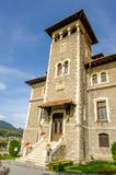 Entracne замка Cantacuzino в Румынии Стоковая Фотография RF