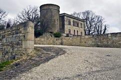 Entrada à abadia do Saint-Michel em Maillezais Fotografia de Stock Royalty Free