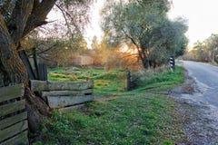 A entrada à casa de campo Fotografia de Stock