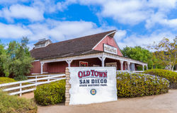 Entrada à cidade velha San Diego State Historic Park fotografia de stock