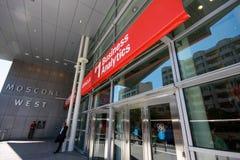 Entrada à conferência de Oracle OpenWorld no centro de convenções ocidental de Moscone Fotos de Stock Royalty Free
