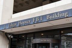 Entrada à construção do FBI no Washington DC fotos de stock royalty free