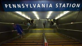 Entrada à estação de Pensilvânia, NYC video estoque