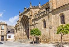 Entrada à igreja de San Pablo em Ubeda fotografia de stock royalty free