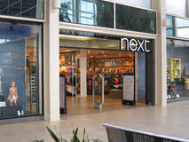 Entrada seguinte da loja de roupa. Foto de Stock Royalty Free