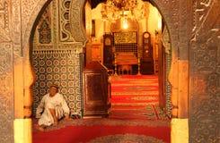 Entrada à mesquita imagem de stock
