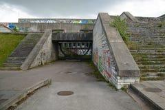 Entrada abandonada al ayuntamiento en Tallinn, Estonia Foto de archivo libre de regalías