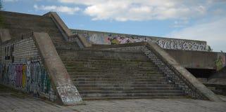 Entrada abandonada al ayuntamiento en Tallinn, Estonia Fotos de archivo libres de regalías