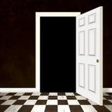 Entrada aberta da porta ilustração stock
