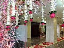 Entrada adornada para la boda hindú, la India Imagen de archivo libre de regalías