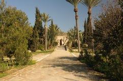 Entrada a Agios Georgios Monastery em Mavrovouni fotografia de stock royalty free