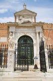 Entrada al arsenal de Venecia, Italia imagen de archivo