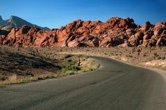 Entrada al barranco rojo de la roca, Nevada Fotos de archivo libres de regalías