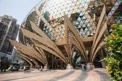 Entrada al casino magnífico de Lisboa en Macao Imagen de archivo libre de regalías