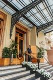 Entrada al casino magnífico en Monte Carlo, Mónaco foto de archivo