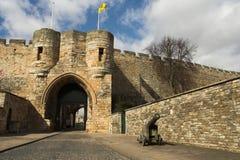 Entrada al castillo foto de archivo