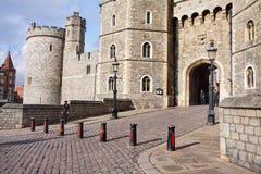 Entrada al castillo de Windsor en Inglaterra Imagen de archivo